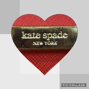 Authentic Kate Spade red leather wallet.